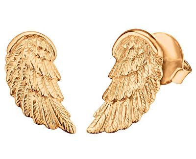 Pozlacené stříbrné náušnice Andělské křídlo ERE-WING-STG