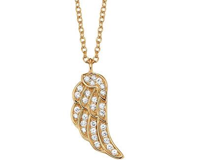 Pozlacený stříbrný náhrdelník Křídlo se zirkony ERN-LILWING-Z-G