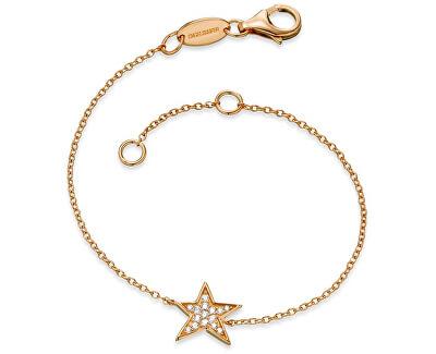 Pozlacený stříbrný náramek Hvězda se zirkony ERB-LILSTAR-ZIG