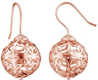 Růžově zlacené stříbrné náušnice Andělské zvonky ERE-ER1-R