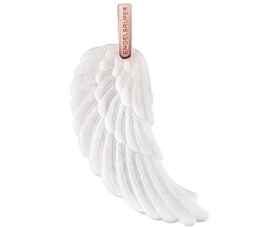 Růžově zlacený stříbrný přívěsek Andělské křídlo s bílou keramikou ERW-L2-KW-R