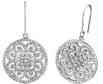 Stříbrné náušnice s ornamentem a zirkony ERE-ORNA-01-ZI