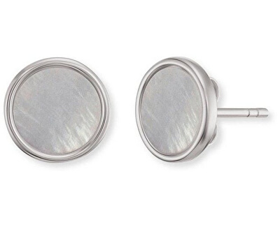 Stříbrné náušnice s perletí ERE-PG-ST
