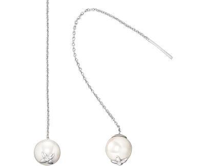 Stříbrné náušnice s perlou ERE-PE01-LH