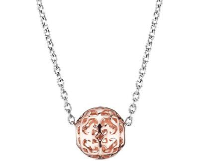 Stříbrný bicolor náhrdelník s kuličkou ERN-ORNABALL-R