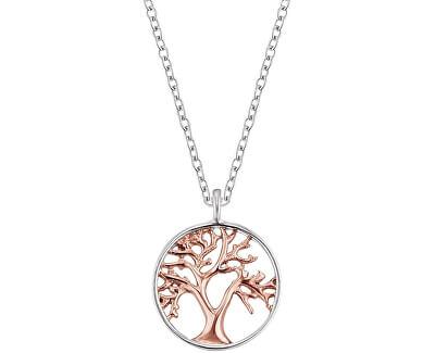 Stříbrný bicolor náhrdelník Strom života ERN-LILTREE-BI