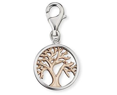 Stříbrný bicolor přívěsek na náramek Strom života ERC-LILTREE-BI
