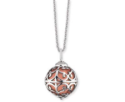 Stříbrný náhrdelník Andělský zvonek s měděnou rolničkou ERN-ER-16-XS