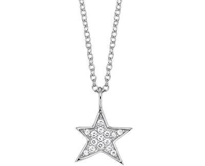 Stříbrný náhrdelník Hvězda se zirkony ERN-LILSTAR-ZI