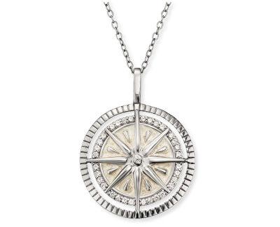 Stříbrný náhrdelník s kompasem ERN-WINDROSE-ENP-ZI