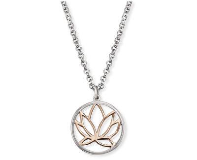 Stříbrný náhrdelník s lotosovým květem ERN-LILLOTUS