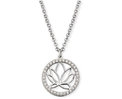 Stříbrný náhrdelník s lotosovým květem ERN-LOTUS-ZI