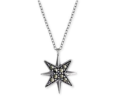 Stříbrný náhrdelník s markazity ERN-LILSTAR-MA