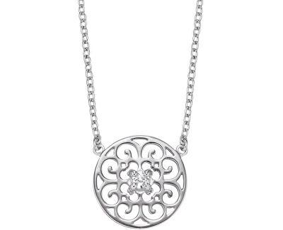 Stříbrný náhrdelník s ornamentem a zirkony ERN-ORNA-ZI