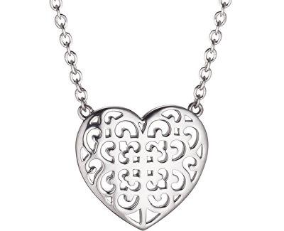 Stříbrný náhrdelník Srdce s ornamentem ERN-ORNAHEART