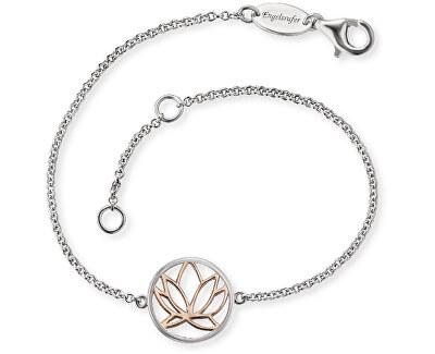 Stříbrný náramek s lotosovým květem ERB-LILLOTUS-BI