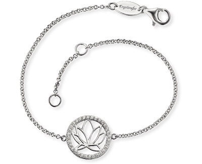Stříbrný náramek s lotosovým květem ERB-LOTUS-ZI