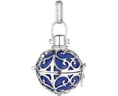 Stříbrný přívěsek Andělský zvonek s modrou rolničkou ER-07