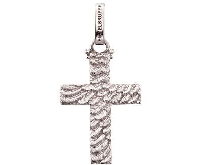 Stříbrný přívěsek Křížek se strukturou peří ERP-CROSS