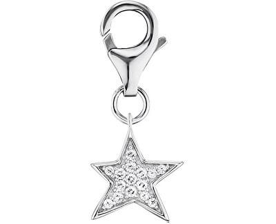 Stříbrný přívěsek na náramek Hvězda se zirkony ERC-LILSTAR-ZI