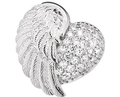 Stříbrný přívěsek Srdce s andělským křídlem a zirkony ERP-HEARTWING-Z