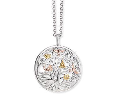Stříbrný tricolor náhrdelník Strom života ERN-TREE-TRICO