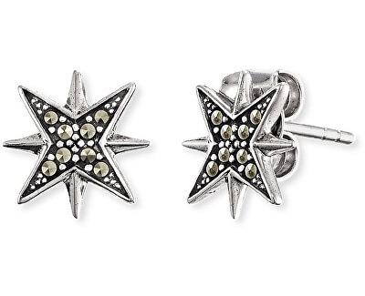 Třpytivé hvězdičkové náušnice s markazitem ERE-LILSTAR-MA
