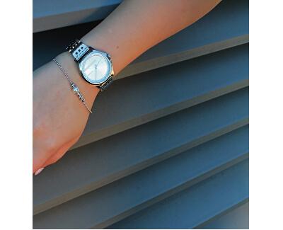 Stříbrný náramek se syntetickou perlou Powder ESBR00201118