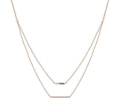 Vrstvený bronzový náhrdelník ESPRIT-JW52913 ROSE