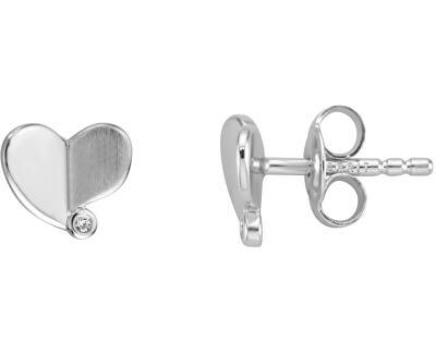 Drobné srdíčkové náušnice ze stříbra ESER00991100