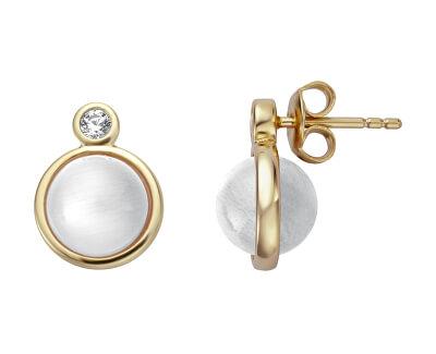 Elegantné náušnice s umelou perlou ESER01071200