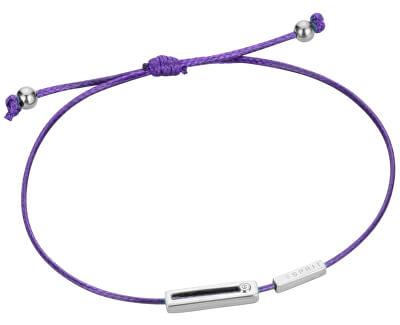 Fialový šňůrkový náramek Mini ESBR00741E21