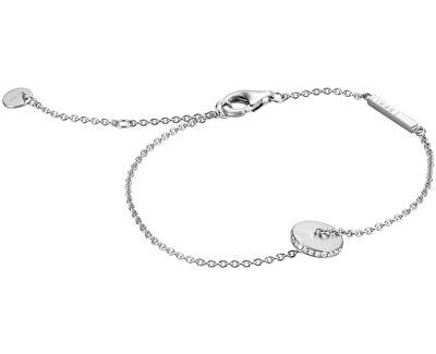 Stříbrný náramek s třpytivým korálkem ESBR00511117