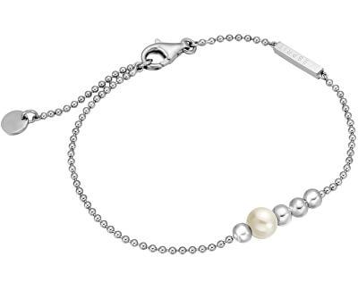 Esprit Stříbrný náramek se syntetickou perlou Powder ESBR00201118