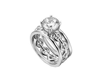 Stříbrný prsten s krystalem Ann ESRG002611