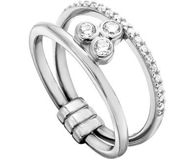 Stříbrný prsten se zirkony Play ESRG001911