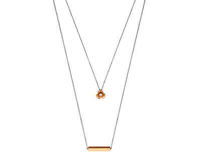 Vrstvený bicolor náhrdelník Orchid ESNL00252342