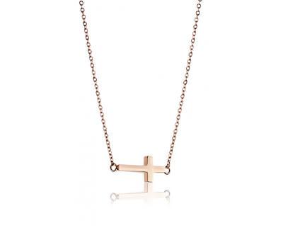 Elegantní ocelový náhrdelník s křížkem WN1008R