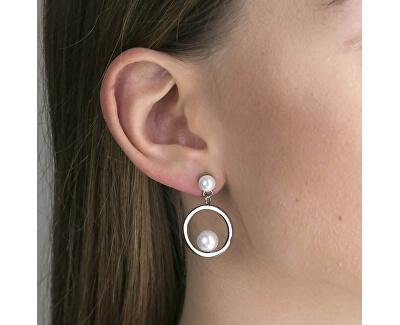 Set de cercei si brățară solidă cu perle WS040S