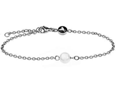 Elegantní ocelový náramek s perličkou WB1009S