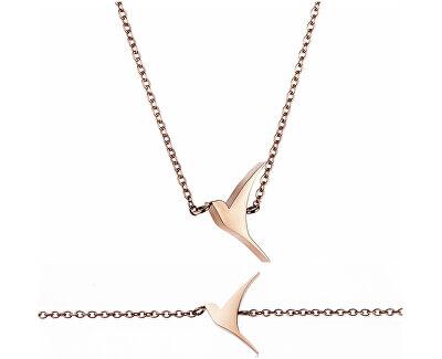 Luxusní set náhrdelníku a náramku s holubicí WS002R