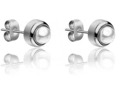 Náušnice pecky s perličkami WE1015S
