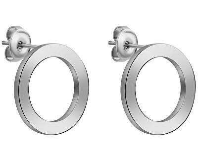 Ocelové náušnice kroužky WE1032S