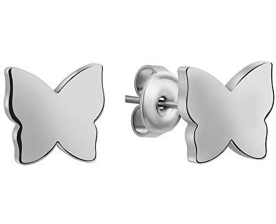 Ocelové náušnice Motýlci WE1036S