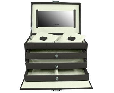 Ékszerdoboz fekete / krém Jolie 23255-90