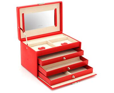 Friedrich Lederwaren Šperkovnice červená/béžová Jolie 23256-40