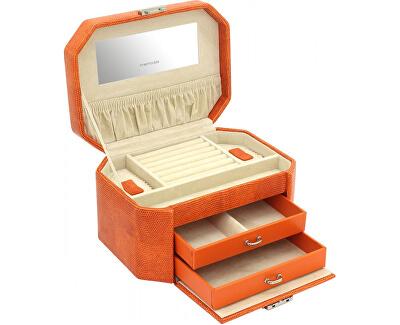 Šperkovnica oranžová / béžová s ještěrčím vzorom New Candy 23251-61