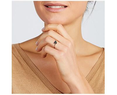 Romantický prsteň z trblietavým srdiečkom JF03091791