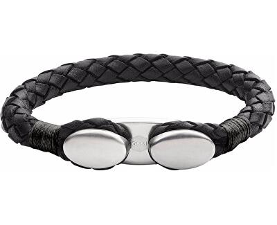 Čierny kožený náramok JF02625040