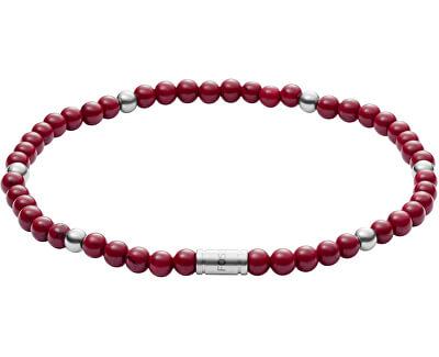 Červený korálkový náramek JF02941040